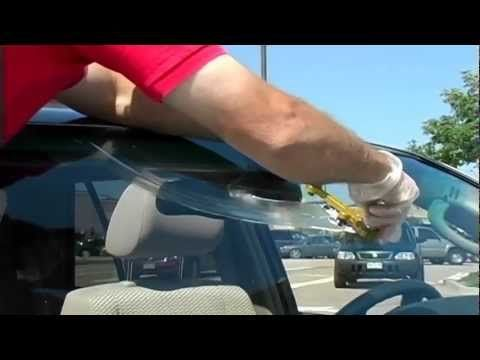 fix windshield crack using bug spray,salt and rubbing alcohol? - YouTube