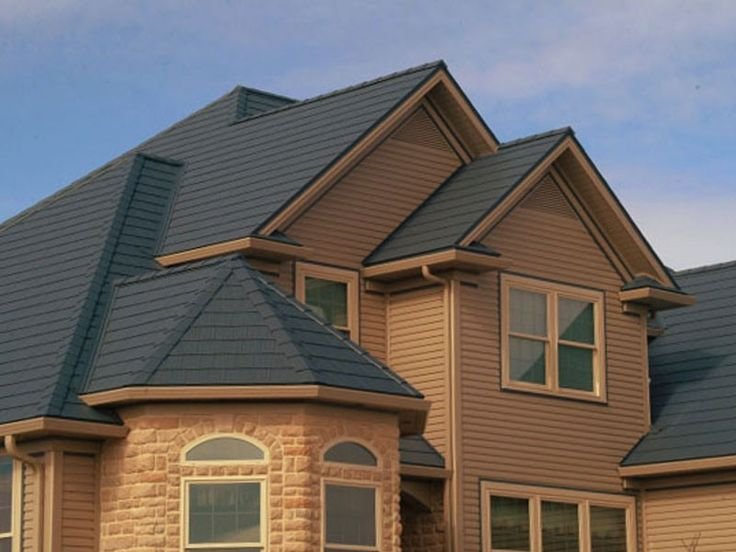 This Gray Roof Is Actually Steel   Arrowline Steel Shingles | EDCO Metal  Roofing   We
