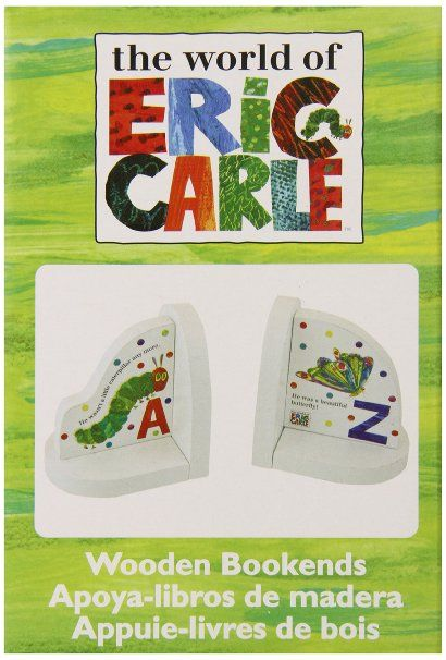 Amazon.com : World of Eric Carle, The Very Hungry Caterpillar Wood Book Ends by Kids Preferred : Nursery Bookends : Baby