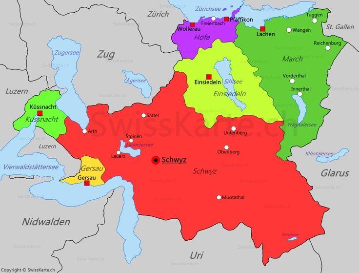 Karte Kanton Schwyz