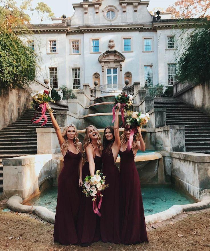 Merlot Bridesmaids #mumuweddings