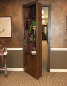 How To Build A Secret Bookcase Door Secret Bookcase Door   Custom Swing Out  U2013