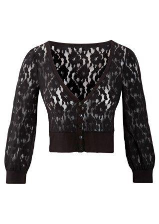 black lace cardigan ♥