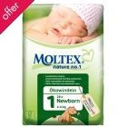 Moltex Nature Disposable Nappies - Newborn - Size 1 - Pack of 28 - These nappies are great to start out with; easier on the environment, healthier for babies' skin and more absorbent than the more famous brands. BUY SIZE 1 AND 2!!!