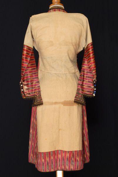 Greece, Macedonia, Imathia, kavadi or kavat, dress, cotton, silk, beginning of 20th century, back Καβάδι Επισκοπής, πίσω όψη