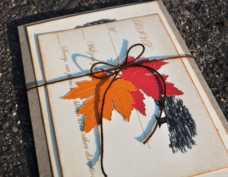 17 Best images about ideas for hailfarewell – Fall Invitations for Weddings