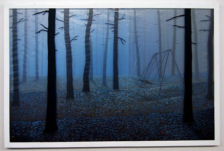 warstwy snu - las - akryl na czterech warstwach folii, 80/120cm /layers of dream - forest - acrylic on four layers of foil, 31,5/47inch http://www.facebook.com/cin3k88/ na sprzedaż/for sale