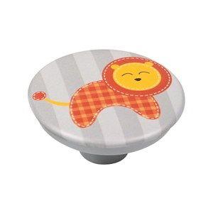 pomo abs con serigrafia leon naranja tirador mueble bebe infantil comprar tienda precio venta online 744a7