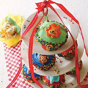 Under the Big Top Cupcakes from MyRecipes.com