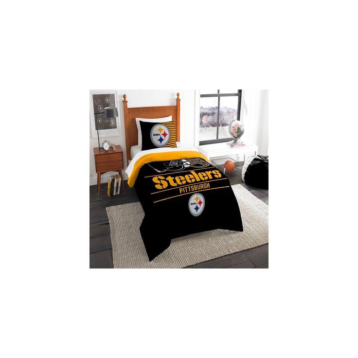 NFL Pittsburgh Steelers Northwest Draft Twin Comforter Set