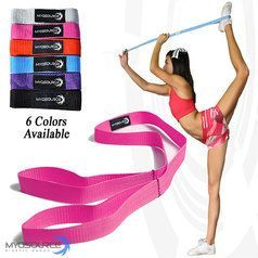 Cheerleading Flexibility: Myosource Stunt & Flexibility Strap to improve flexibility help cheerleaders perfect stunts. Use coupon code PINIT15 for 15% off cheerleading equipment.