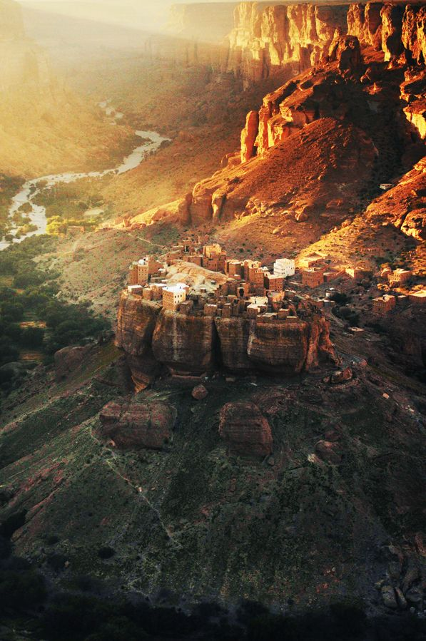 Wadi Dawan, Hadramaut, Yemen. Wadi Dawan is a town and desert valley in central Yemen. Located in the Hadhramaut Governorate, it is noted for its mud brick buildings. (V)