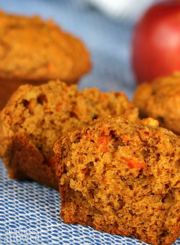 Morning Glory Muffins - Healthy carrot muffins without all the sugar. DessertNowDinnerLater.com #muffins #breakfast #healthy