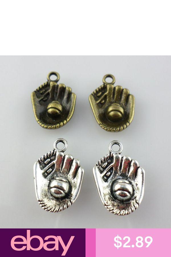 30pcs Tibetan Silver//Bronze Baseball Glove Charms Pendants 14.5x21mm