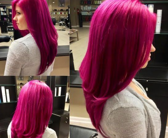 If I could pull this off I totally would do it to my hair Fierce Magenta
