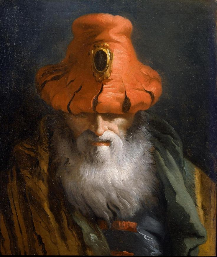 The Athenaeum - Head of a Philosopher with a Red Hat (Giandomenico Tiepolo - )