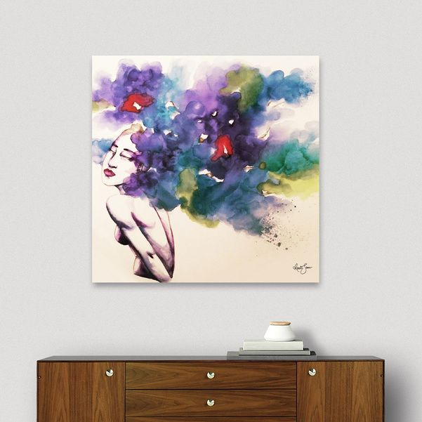 Discover «Forest Spirit original», Limited Edition Canvas Print by Renate Sanner - From $79 - Curioos
