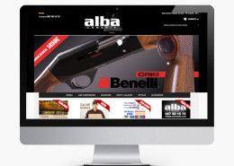 Diseño Portada tienda online Armería