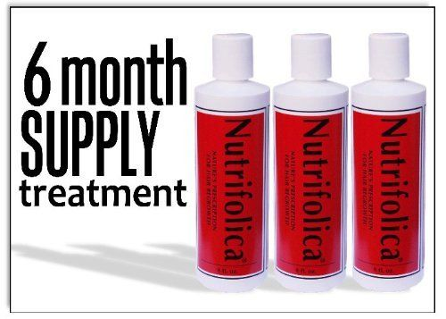 Nutrifolica Hair Loss Treatment & Accelerator - 6 Month Supply by Nutrifolica Natural Hair Loss System. $64.95. DHT Blockers work to stop hair loss at the cause, and reverse it's ill effects.. Saw Palmetto and Nettles are the main ingredients in Nutrifolica; both are important for hair loss prevention and reversal.. Nutrifolica is all natural, with no animal ingredients and is made in the U.S.A.. Non-oily, no scent, no sulfates.. Spray-cap makes reaching the scalp quick and...