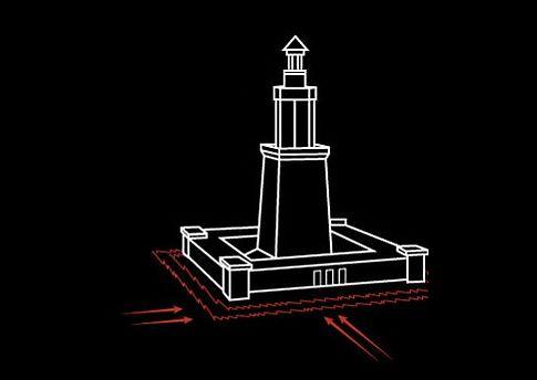 İskenderiye Feneri: Doğal afetlerin yıkıcı etkisi hesaba katılmadığı için İskenderiye Feneri bir depremde yıkıldı.