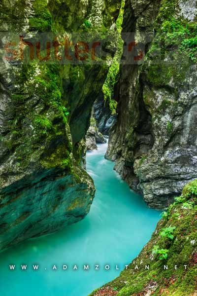 Tolmin Gorge in Slovenia - All rights reserved - Copyright © Adam Zoltan http://adamzoltan.net