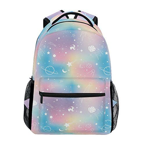 c31c8242a9f7 New ZOEO School Backpacks Unicorn Rainbow Planet 3th 4th 5th Grade ...