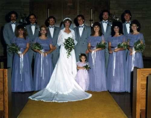 Lilac wedding eighties