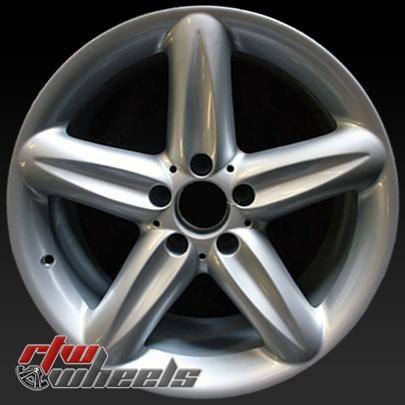 """18"""" Mercedes SL500 oem wheels for sale 2004-2006 Hypersilver rims 65322 - https://www.rtwwheels.com/store/shop/18-mercedes-sl500-oem-wheels-sale-hypersilver-stock-rims-65322/"""