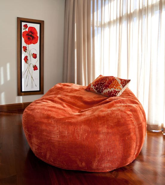 Here we have a Family sized corduroy (Burnt Orange) in a formal setting.