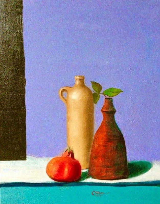 Art by Viorica Buga: Still life,oil on canvas
