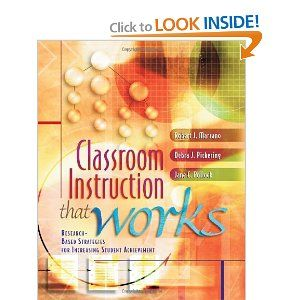 Classroom Instruction That Works: Research-Based Strategies for Increasing Student Achievement: Worth Reading, Books Worth, Student Achievement, Increasing Student, Professional Development