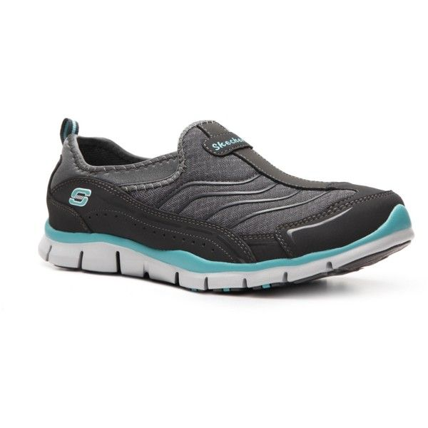 Skechers Gratis Legendary Slip-On Walking Shoe - Womens ($55) ❤ liked on Polyvore featuring shoes, women, walking shoes, skechers shoes, slip on shoes, skechers footwear and slip on walking shoes