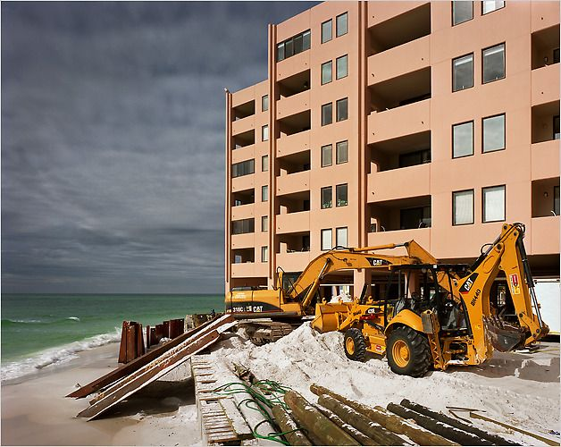 Beachfront homeowners in Destin, Fla., would rather see the beaches erode than share their sand with the tanning masses.