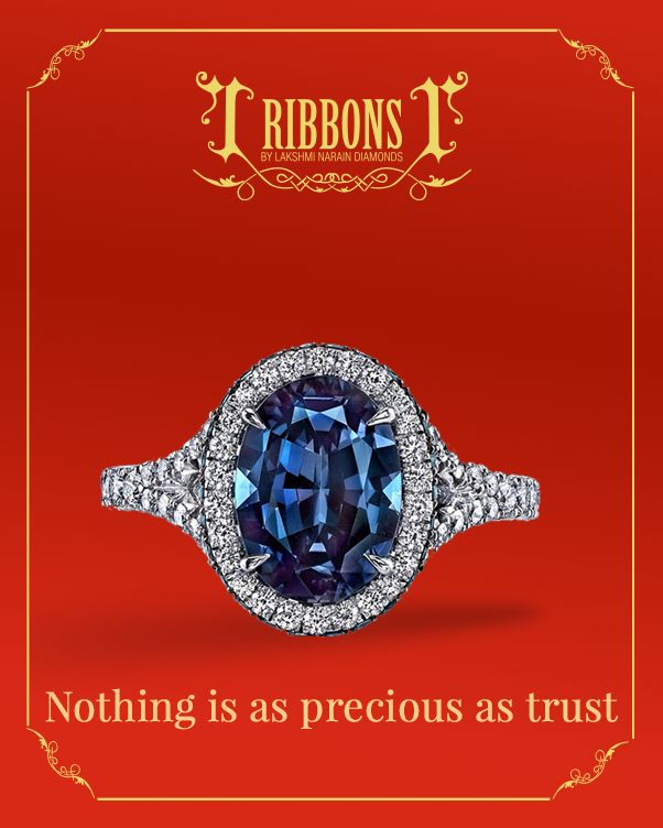 A diamond encrusted sapphire set in a band of silver lined with even more diamonds!  Product Code: RR001  #Ring #EngagementRing #WeddingRing #Wedding #Diamond #Sapphire #Trust #RibbonsJewellery #Jewelry #Jewels #Delhi #NewDelhi #Jewelers #RibbonsJewellery