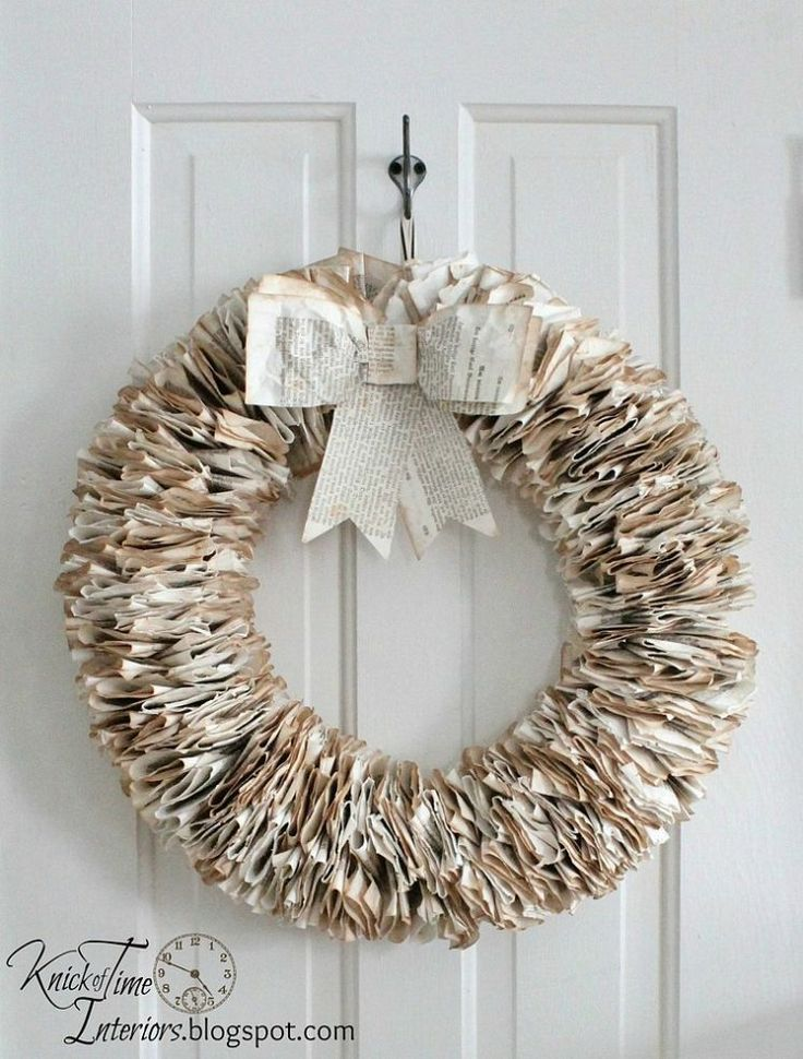 DIY:: Beautiful $4 Christmas Book Page Wreath With Easy to follow tutorial !