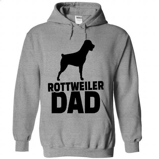Rottweiler Dad Full Color  - #hooded sweatshirts #pink hoodie. I WANT THIS =>…