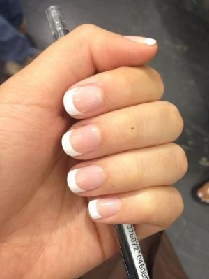 How to make french nails on short nails