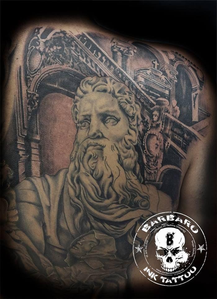 #tattoo #tattooed #tattooist #bestspaintattooartist #sculpturetattoo #blackandgreytattoo #religioustattoo #moisestattoo