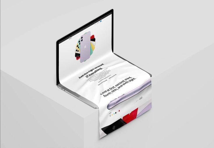 Macbook Long Scroll Mockup Isometric Mockup Freebies Fribly In 2021 Macbook Mockup Free Mockup Macbook Mockup Free