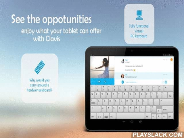 """Clavis Keyboard Free  Android App - playslack.com , Why would you use a smartphone keyboard, when you have a much bigger screen?Clavis Keyboard offers you a full PC keyboard, taking advantage of your tablets screensize. You can use the traditional hotkeys like Ctrl+C, Ctrl+V and experience awesome new functions that make your tablet even more powerful.Features:★Modifier keysType special characters instantly, using the Shift, Ctrl and Alt keys.★Standard hotkeysThe """"copy-cut-paste"""" and the…"""