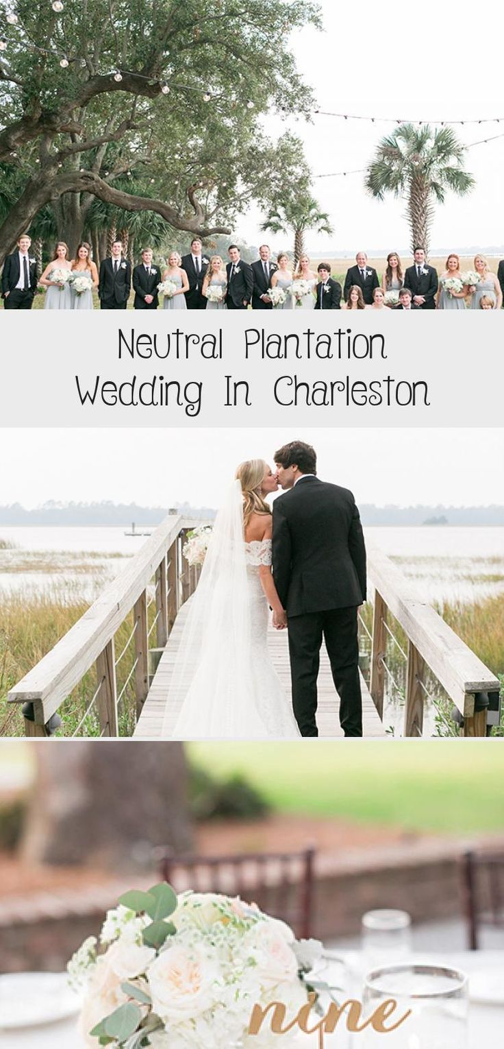 Neutral Plantation Wedding in Charleston - Inspired By This #BridesmaidDressesWinter #LilacBridesmaidDresses #OffTheShoulderBridesmaidDresses #IvoryBridesmaidDresses #BridesmaidDressesNavy