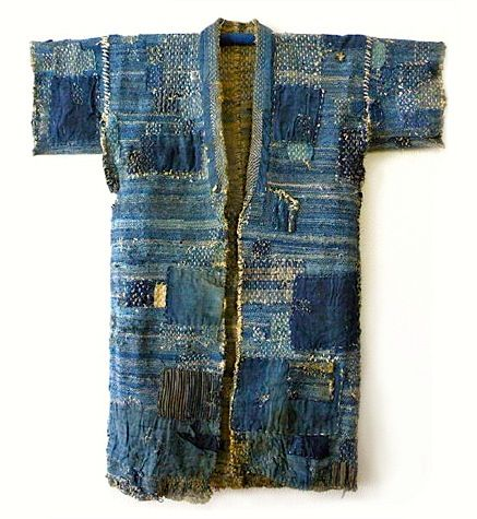 """boro_kimono  Boro is a Japanese word meaning           """"tattered rags"""" and it's the term commonly used to describe patched and repaired cotton bedding and clothing lovingly used much longer than the normally expected life cycle."""