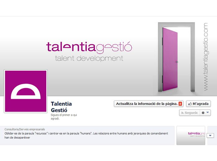 Diseño de la página de Facebook de Talentia