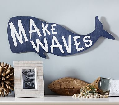 Whale Sentiment Art Plaque #pbkids