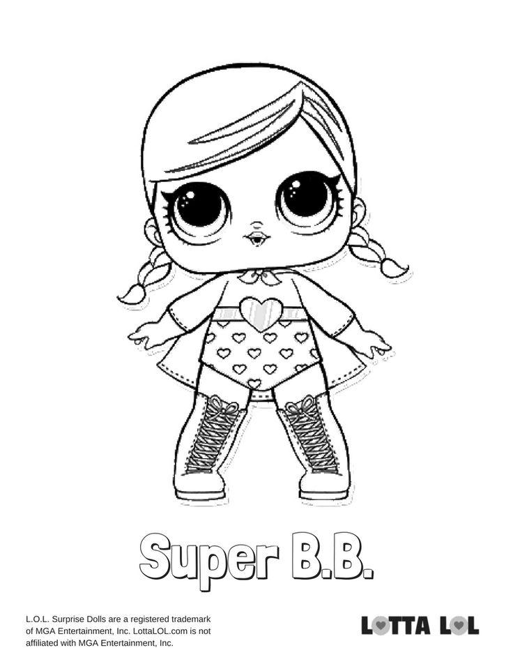 Super BB Coloring Page Lotta LOL LOL Surprise Dolls