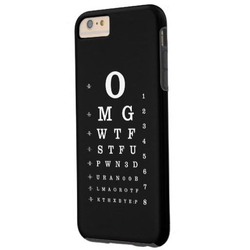 Internet Dictionary Eye Chart Barely There iPhone 6 Plus Case