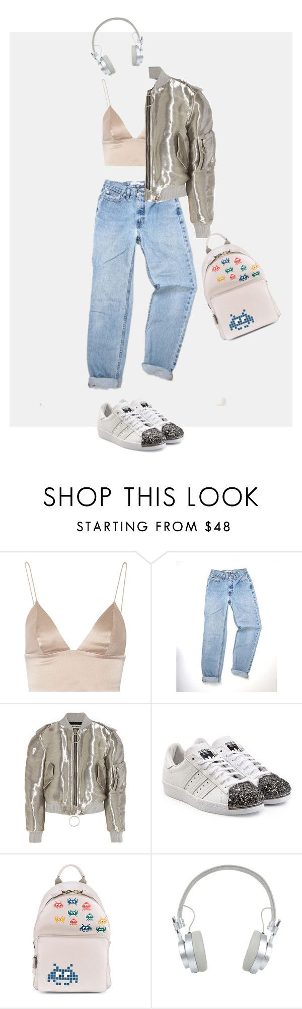 """""""Sportieve Outfit"""" by egesuk on Polyvore featuring moda, T By Alexander Wang, Off-White, adidas Originals, Anya Hindmarch ve Master & Dynamic"""