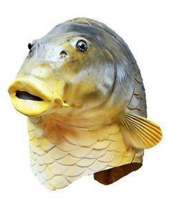 Halloween Adult Fish Head Overhead Mask Latex Scary Spooky Rubber Movie Horror