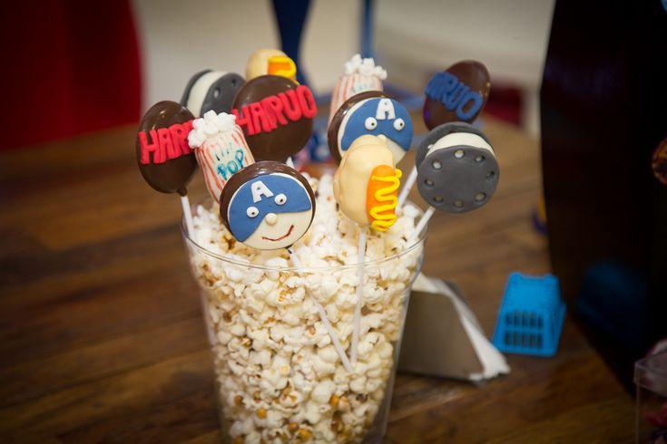 Cakepops Capitão América no Cinema