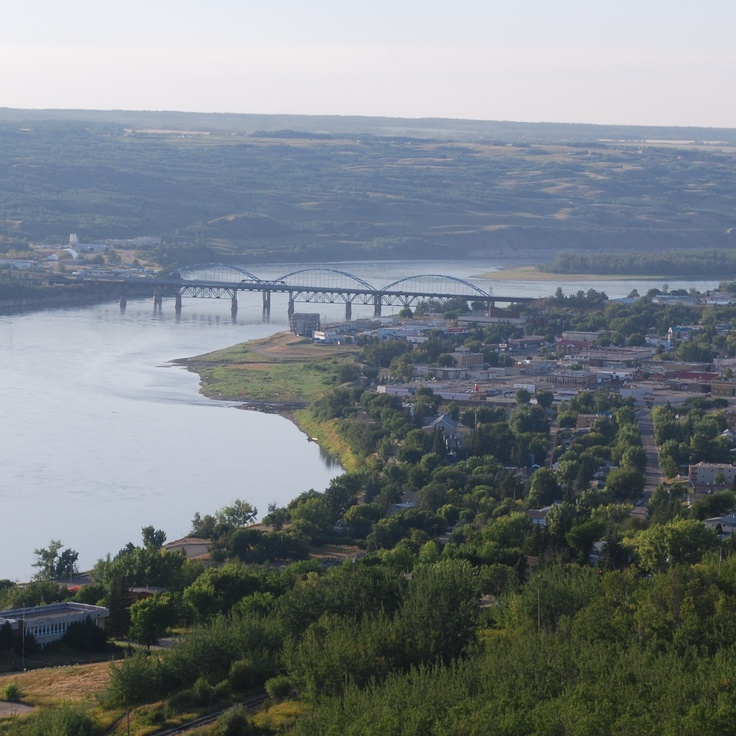 this is peace river alberta. This is where i do all of my shopping. i am glad to still be living by a river.